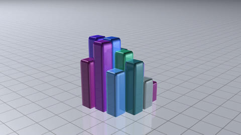 Coloured bar graph Animation
