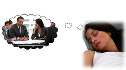 Darkhaired woman dreaming Animation