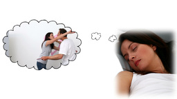 Woman dreaming spending time with her fiance Stock Video Footage