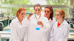 Young students doing an experiment Footage
