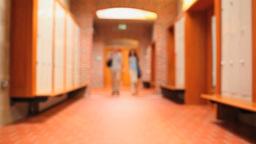 Couple walking in a corridor Footage