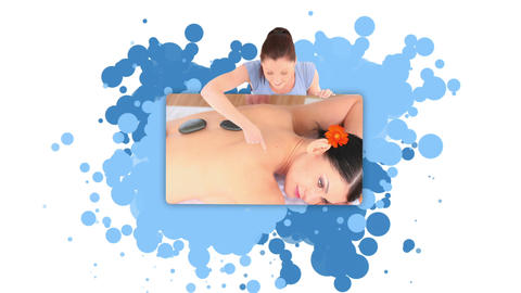Woman showing a woman in the spa Footage