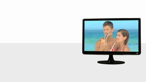Animated TV screens about leisure Stock Video Footage