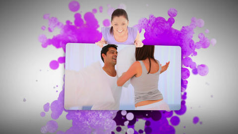 Woman showing a playful couple in the morning Footage