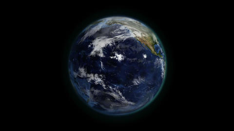 Cloudy Earth in movement with Earth image courtesy Footage