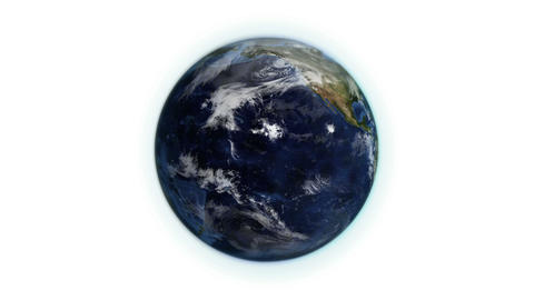 Cloudy Earth in movement with Earth image courtesy Animation