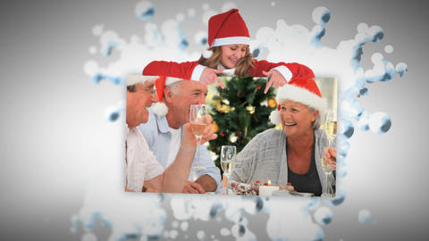 Merry Christmas Animation About Seniors Having A D stock footage