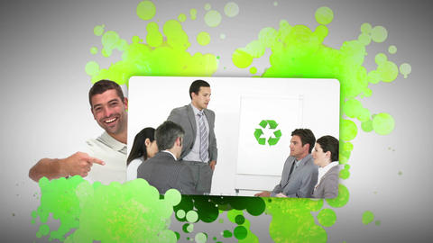 Man showing ecological business Animation