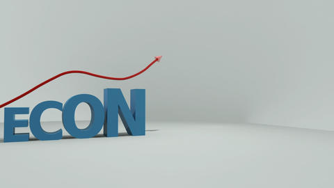 Letters showing the word economy Animation