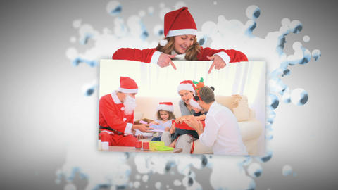 Merry Christmas animation about Santa distributing presents Animation