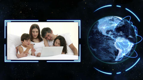 Earth turning on its axis longside videos of families with earth image courtesy Animation