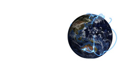 Earth passes across the screen and a video of busi Stock Video Footage
