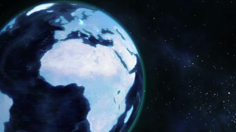 A video emerges showing a man with a globe with Earth... Stock Video Footage