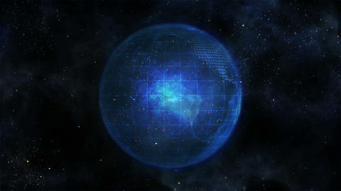 Blue Earth turning on itself Animation