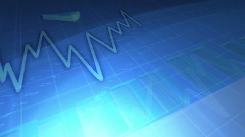 Animated economical data with codes Stock Video Footage