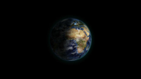 Shaded Earth with blue connections zooming in with Earth…, Stock Animation