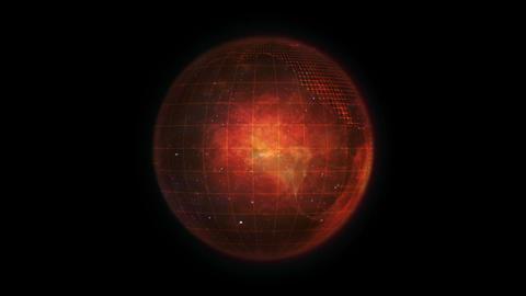 Animated orange Earth globe Animation