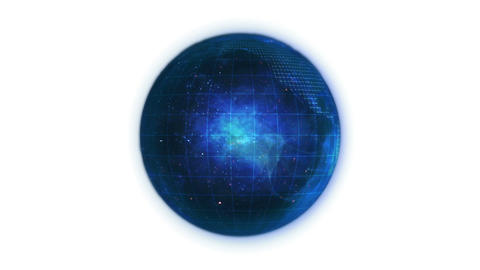 Animated blue planet globe in movement Animation
