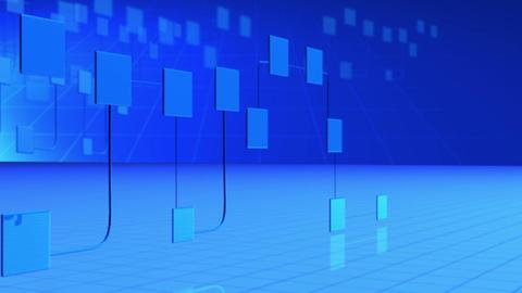 Blue network establishing connection Animation