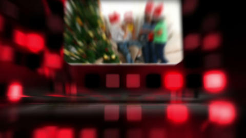 Montage about families celebrating Christmas Stock Video Footage
