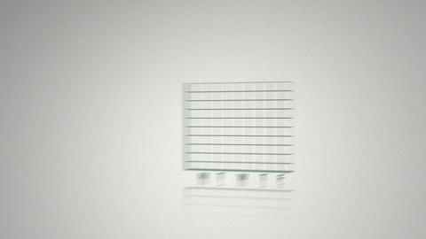 Green animated economical data Animation