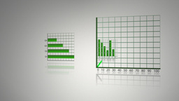 Green animated economical data Stock Video Footage