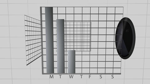 Animated black graphs spinning Animation