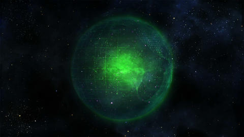 Green Earth turning Animation