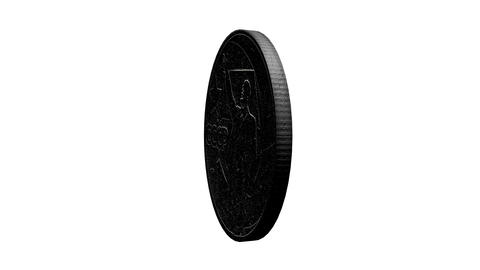 Old Soviet Union Coin with Lenin. Loopable video ( Stock Video Footage