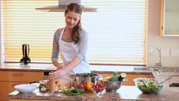 Woman preparing the dinner Footage