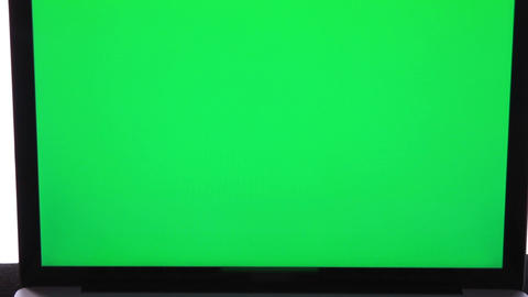 Laptop With Green Screen 0