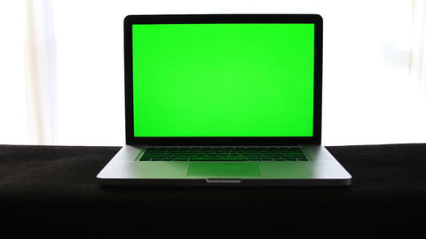 Laptop With Green Screen 2