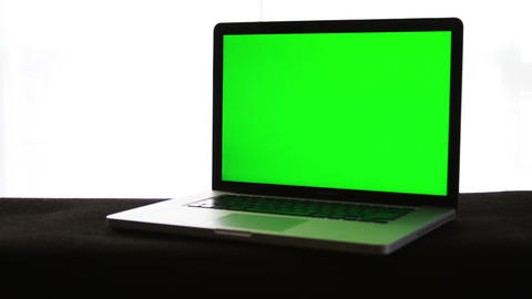 Laptop Green Screen Stock Video Footage