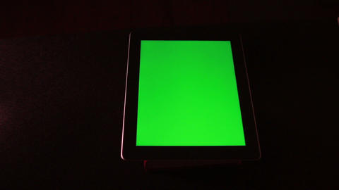 Tablet Device With Green Screen