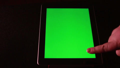 Tablet Device With Green Screen 0