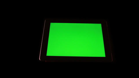 Tablet Device With Green Screen 1