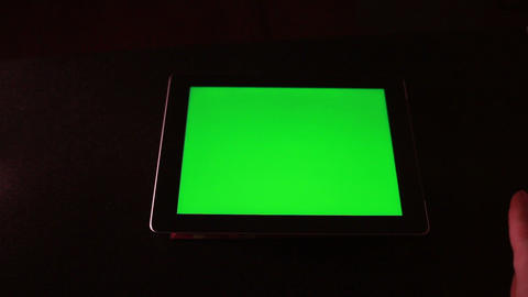 Tablet Device With Green Screen 2