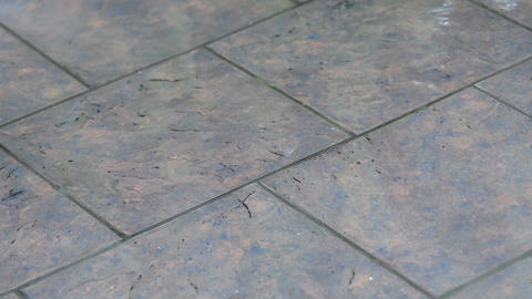 Tile In The Rain stock footage