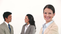 Smiling businesswoman posing Footage