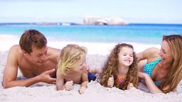 Happy parents tickling their children Stock Video Footage