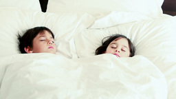 Peaceful children sleeping together Footage