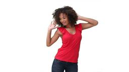 Woman dancing sensually Footage