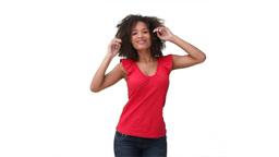Woman dancing sensually Stock Video Footage