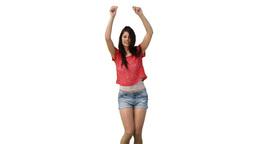 Woman sensually dancing Footage