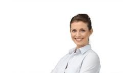 Business woman turning around and smiling Footage