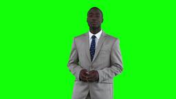 Businessman making an announcement Footage