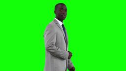 Businessman making a presentation Stock Video Footage