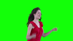 Woman dancing energetically Stock Video Footage