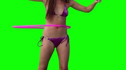 Woman spinning a hula hoop Footage