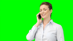 A business woman talking on her smart phone Footage